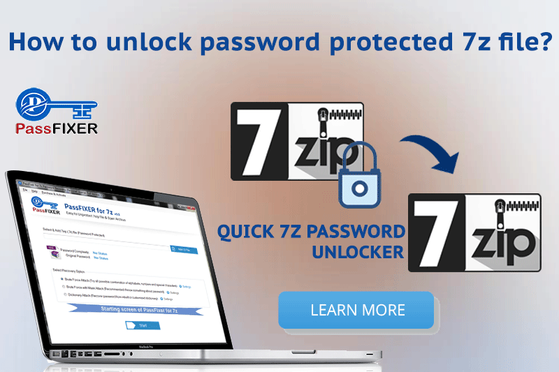 unlock password protected 7z file